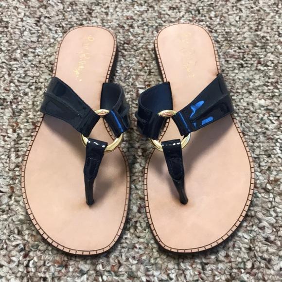 42ca28caf44 New Lilly Pulitzer McKim Leather Sandal Women s 6